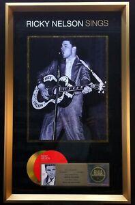 RICKY NELSON Sings 2005 RIAA Gold DVD Award Plaque RICK NELSON
