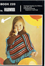 CROCHET FOR LITTLE GIRL'S~ GORGEOUS!  DRESS, PONCHO, SWEATERS & MORE *VINTAGE*