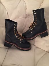 Georgia Black Leather Logger/Work Boots sz 5.5 ~ New