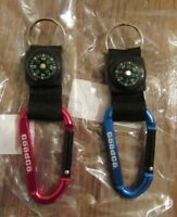 The Good Company Thin Line Carabiner Keychain Lot Red & Blue Brand New Free S&H