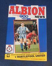 Brighton & Hove Albion -v- Hartlepool United  1992-1993