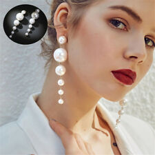 2Pcs Gold Silver Plated Women Geometric Dangle Drop Big Circle Ear Stud Earrings