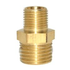 "10pcs 1/8""-1/4""  BSP Male Length 32mm Connection Brass Pipe  Reducer Connector"