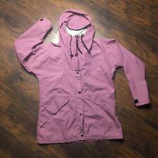 REI Womens Hooded Gor-tex/Nylon Jacket Size 12, Adjustable Waist, Purple/Lilac