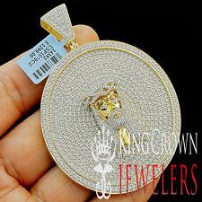 Exclusive Custom Piece Big XL Medallion Jesus Pendant Real Yellow Gold Silver