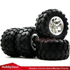 4pc RC 2.2 Badland Monster Big foot Tires & 2.2'' Wheel For RC Crawler Truck Car