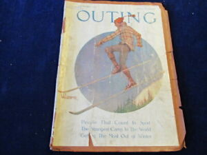 Vtg 1919 Outing Magazine Articles Of Conlin Tennis Palisades Park Camp NY Ae