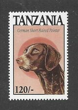 Dog Art Head Portrait Postage Stamp GERMAN SHORTHAIRED POINTER Tanzania MNH