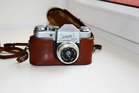 "ZENIT-3 Soviet SLR 35 mm film camera VINTAGE OLD w/s lens ""Industar-50"" EXC"