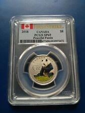 2018 First Strike Peaceful Panda Fine Silver $8 Coin, PCGS SP69, No Reserve!