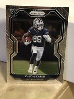 2020 Panini Prizm CeeDee Lamb Base RC # 334 Well-Centered Rookie