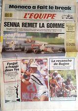 L'Equipe Journal du 12/8/1991; Senna remet la gomme/ Baudouin en or/ Wallabies