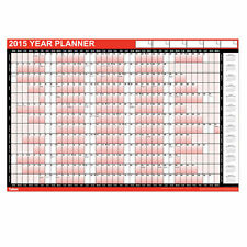 2015 - Large A1 Year Wall Planner / Calendar with Pen and Stickers/labels