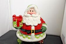 Fitz And Floyd Holiday Cheer Santa Cookie Jar