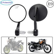 Motorrad Lenkerendenspiegel 22mm Novara Rund E-geprüft E9 Universal Paar