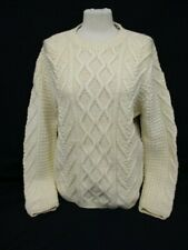 Aran Cable Knit Sweater, BANANA REPUBLIC Chunky Jumper, Medium, Wool, 53cm Wide