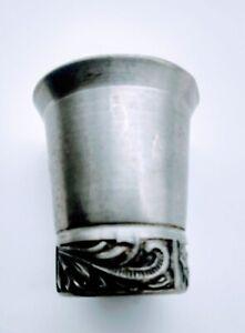Vintage Pewter Shot Glass 134