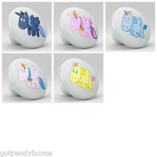 set of 9 Pinky Skull Cute Nursery Ceramic Knobs Pulls Bed Drawer Dresser 1162