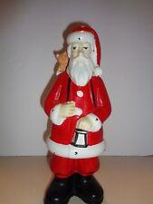 "Vintage Santa Clause Red Wine Decanter Bottle S. Gimignano Figure Rare-Empty 11"""