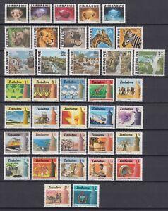 ZIMBABWE 1980s 2 MNH SETS, AGRICULTURE & INDUSTRY, ANIMALS, BUNDI FALLS