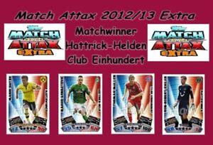 Topps Match Attax  EXTRA 2012/13 - Matchwinner - Hattrick-Held - Club Einhundert