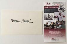 Deanna Durbin Signed Autographed 3x5 Card JSA Certified