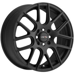 "Vision 426 Cross 14x5.5 4x100/4x4.5"" +38mm Matte Black Wheel Rim 14"" Inch"