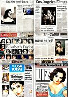 Elizabeth Taylor Newspaper Lot of 6 Different Tribute 2011 MT Liz Cleopatra Rare