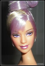 NUDE BARBIE  STERLING SILVER ROSE DOLL LAVENDER PURPLE EYES  MACKIE  FOR OOAK