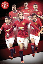 MANCHESTER UNITED - TEAM COLLAGE POSTER 24x36 - 1125