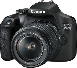CANON EOS 2000D BK 18-55 IS II Kit 24,1 MP NFC BT WLAN B-WARE