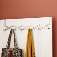 6-Hook Flexible Over The Door Hanger Rack Organizer Hook Storage Bath Kitchen SA