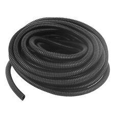 10.5m Long 10mm Diameter Plastic Corrugated Tube Electric Conduit Pipe Black