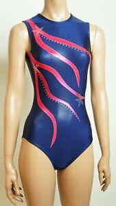 Agiva Turnanzug blau pink 1547 Schwimmanzug Badeanzug