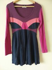 F&F Colourful Dress Size 12 Long Sleeves Blue/Purple/Pink
