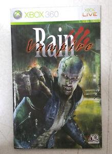 Xbox 360 Vampire Rain Instruction Booklet Insert Only Microsoft