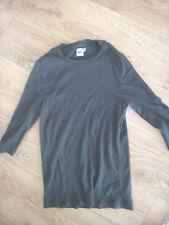 Mens Asos Jumper Khaki Medium with 3/4 sleeves size M slim tight fit