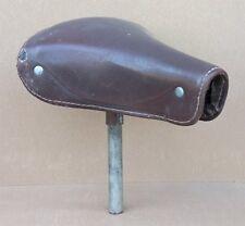 Ancienne selle de vélo ancien GALLET CUIR cycle bicyclette vintage pièce détaché