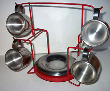 Double Wall Stainless Espresso Cups Saucers Plates Barista Set Inox Italy 18/10