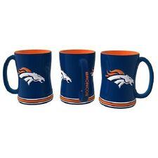 Denver Broncos Coffee Mug Relief Sculpted Team Color Logo - 14 oz NEW