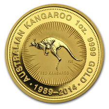 2014 Australia 1 oz Gold Kangaroo BU (25th Anniv) - SKU #81886
