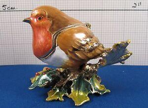 New From Arora - Craycombe Trinkets - Christmas ROBIN Trinket Box
