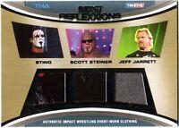 TNA Sting Scott Steiner Jeff Jarrett 2012 Reflexxions Triple Relic Card 42 / 199