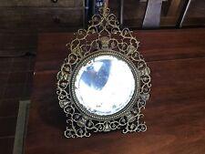 Best Antique Bronze Victorian Ornate Gargoyle Beveled Mirror 19th Century