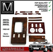 Mercedes Wurzelholz Set komplett R107 W107 1981-85 Holz wood burl EU Version NEU
