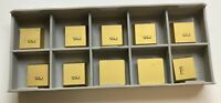 SEC 422 RTW Carbide Inserts (10 inserts available), 755 Grade for Steel