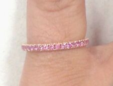 Ladies 18k Yellow Gold Eternity band Pink Sapphires .35tcw size 5