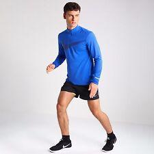SZ: M  Men's Nike Dri-Fit Element Long Sleeve Half Zip Med Blue 800297-480