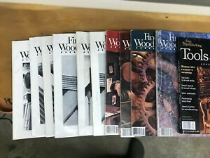 Fine Woodworking Magazines- MIXED LOT 8 total issues