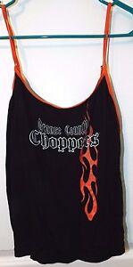 NWOT's Ladies 2 pc Intimate Set Orange County CHOPPERS Black & Orange Size L